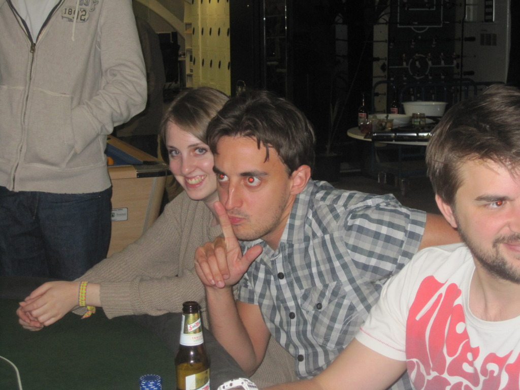 Lauren, Jamie & Keith Playing Poker