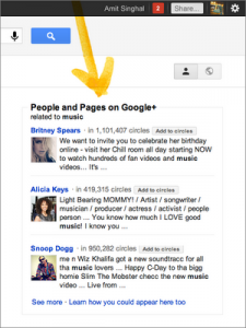 Google Plus People and Pages