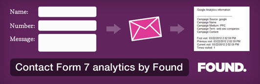Wordpress Plugin - Contact Form 7 analytics by Found