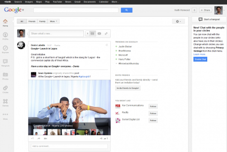 Google Plus New Interface
