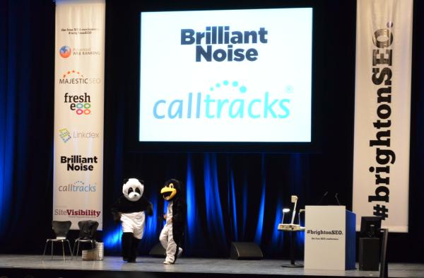 Brighton SEO Conference - Panda Penguin Dance
