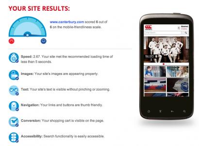 Google Mobile Site Check