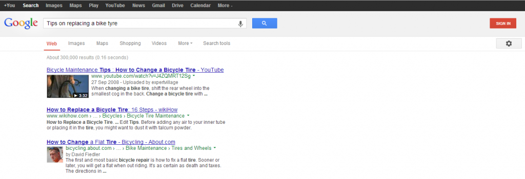 Google Bike Tyre