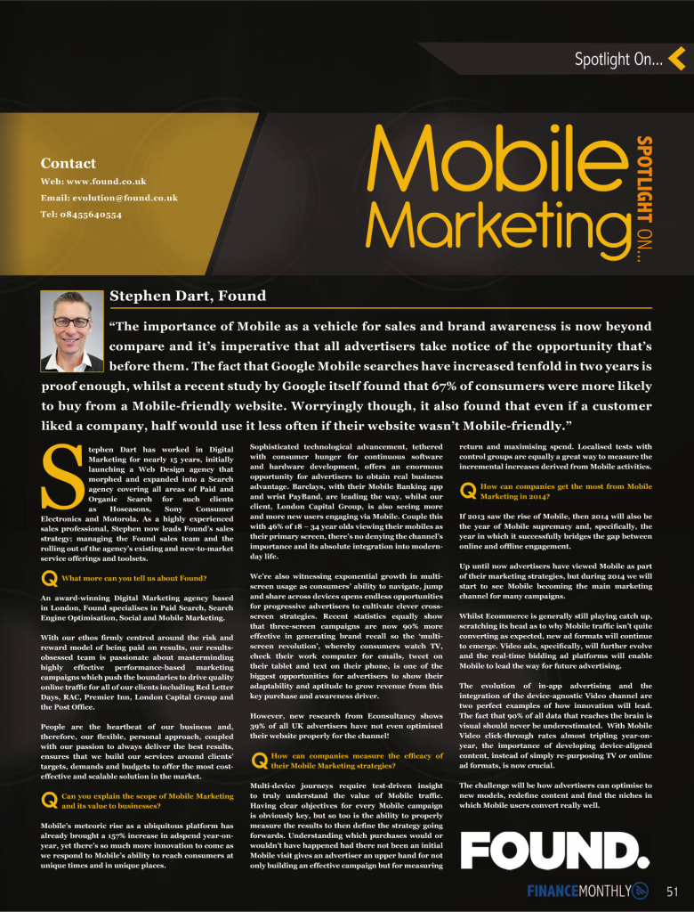 Finance Monthly - MobileMarketing