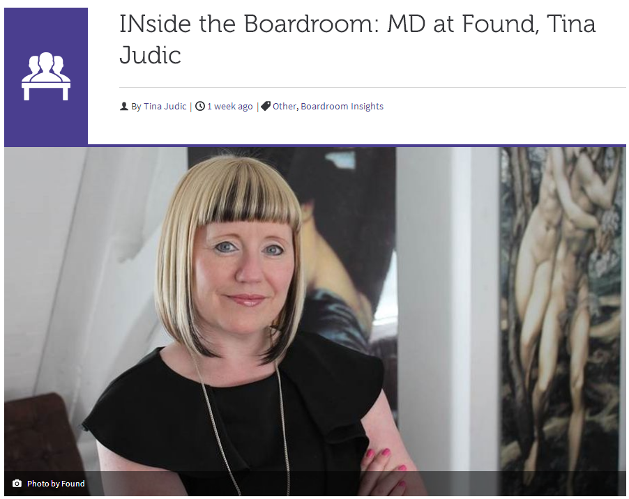 INside the Boardroom MD at Found, Tina Judic