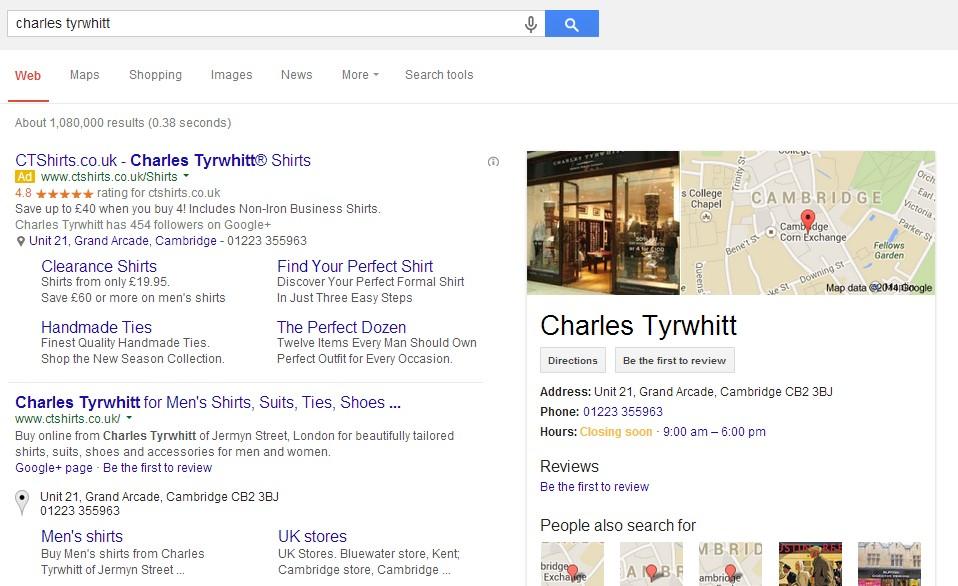 image of bidding on brand called charles tyrwhitt