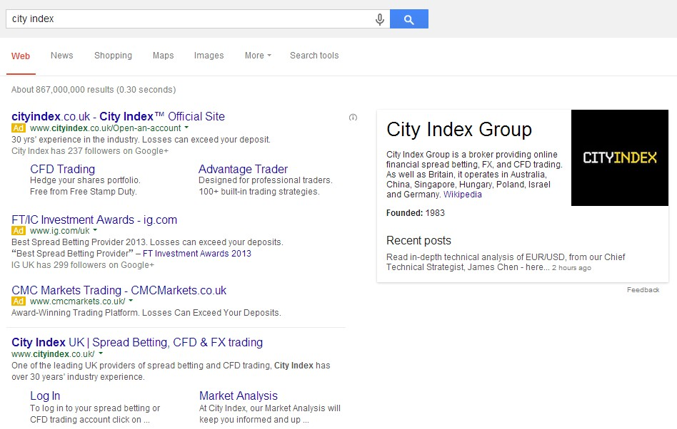 image of bidding on city index brand name