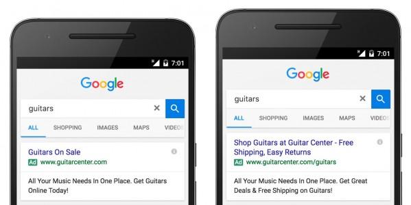 Google double headline ad