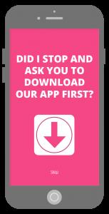 Mobile App download interstitial