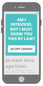 Good practice intrusive interstitial - cookie sign up