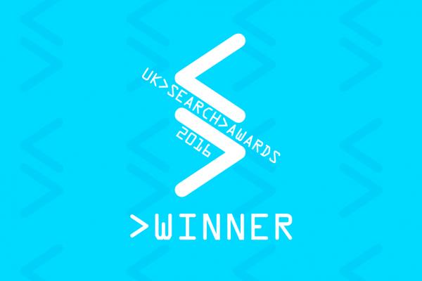 UK Search Awards winner 2016