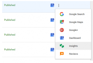 Google My Business Insights Button