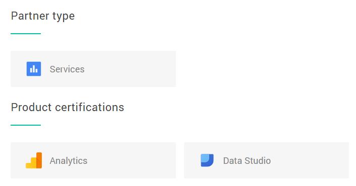 Found wins Data Studio certification