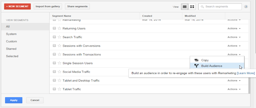 introducing custom audience segmenting feature