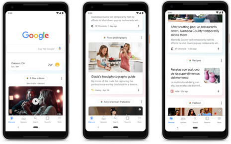 Google feed mobile