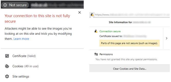 Peringatan campuran browser konten SEO